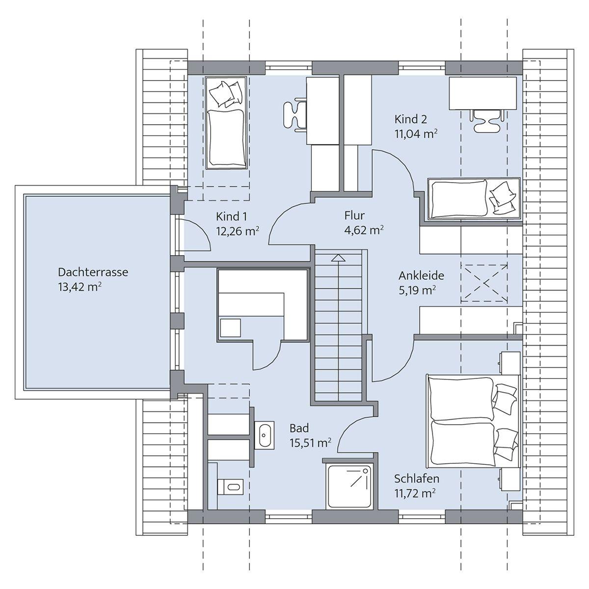 Grundriss Dachgeschoss | Häuser | Pinterest | Dachgeschosse ...