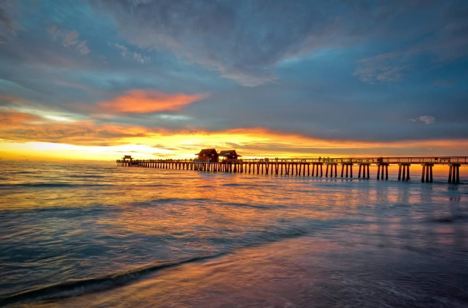 Naples, Fl. The pier. | Naples pier, Naples, Florida art