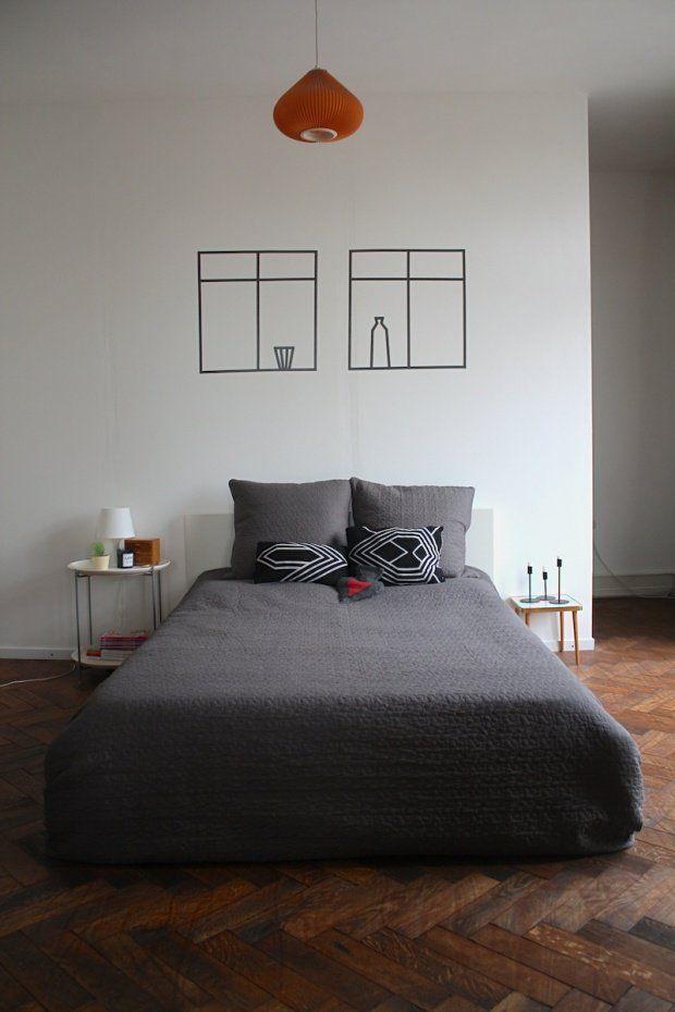 maskingtape fenster aus maskingtape bedroom interior bed idea wandgestaltung design. Black Bedroom Furniture Sets. Home Design Ideas