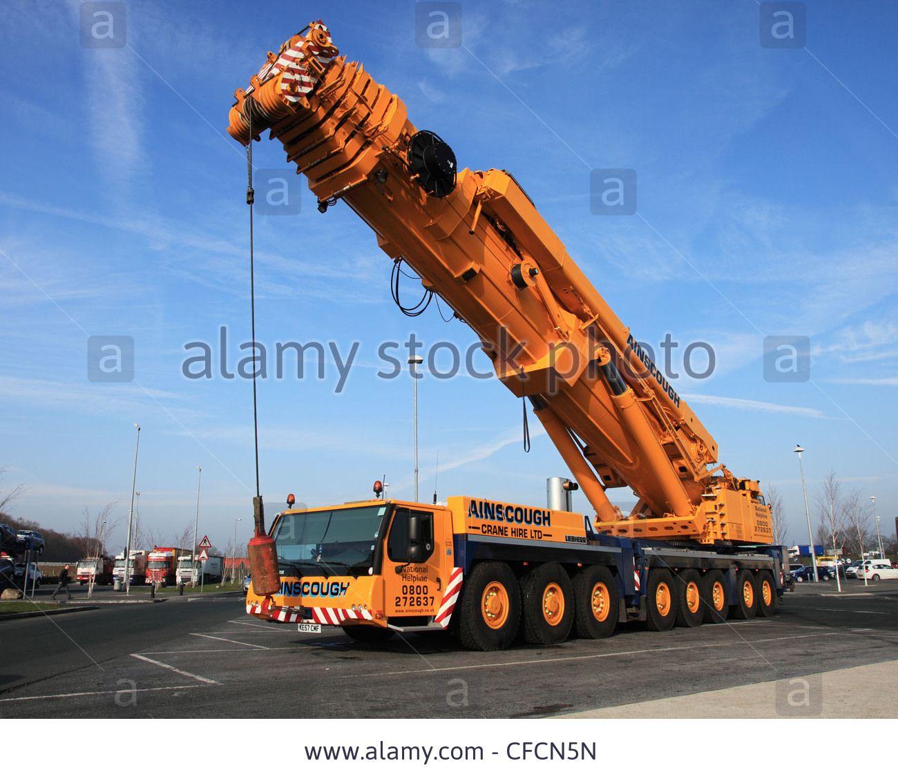 Mobile Crane Machine : Ainscough liebherr ltm  tonne all terrain