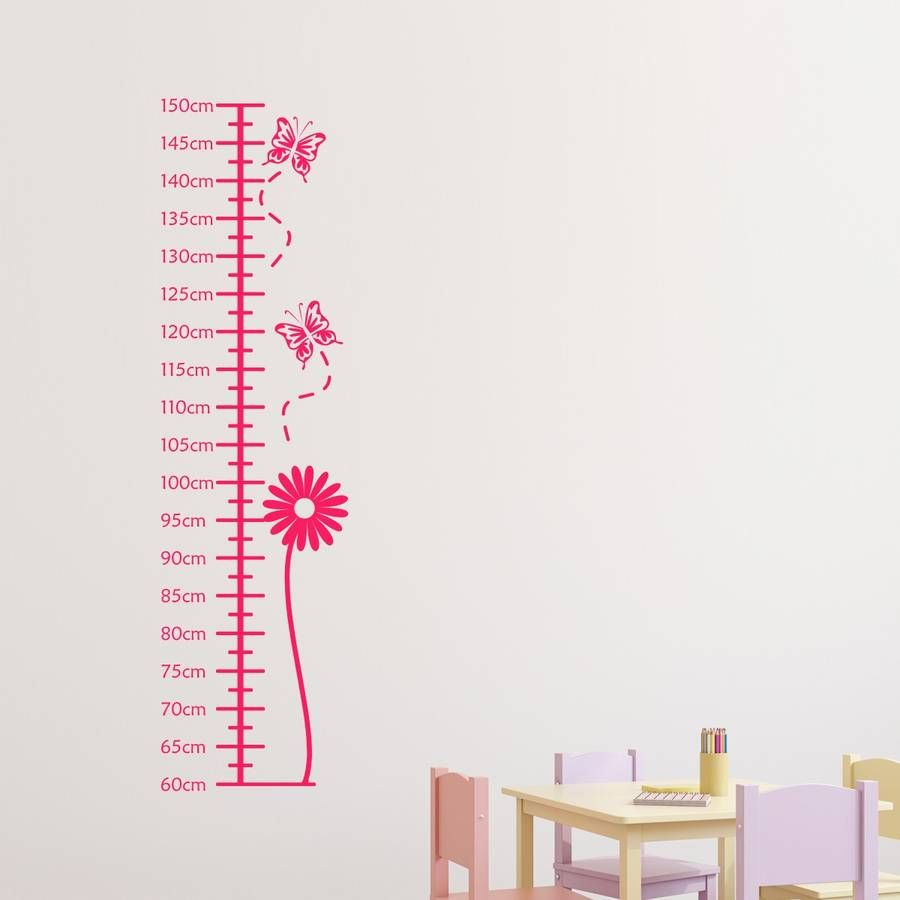 This flower height chart wall sticker will brighten up any girls flower height chart wall sticker amipublicfo Gallery