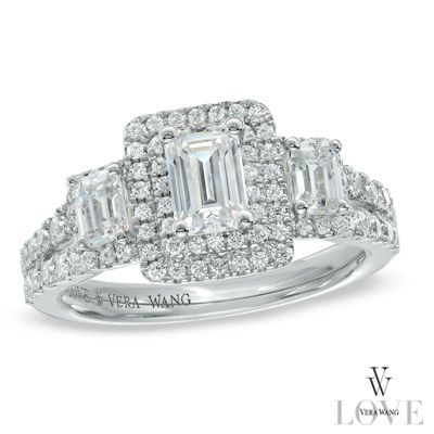 Vera Wang LOVE Collection 1.30 CT. T.W. Emerald