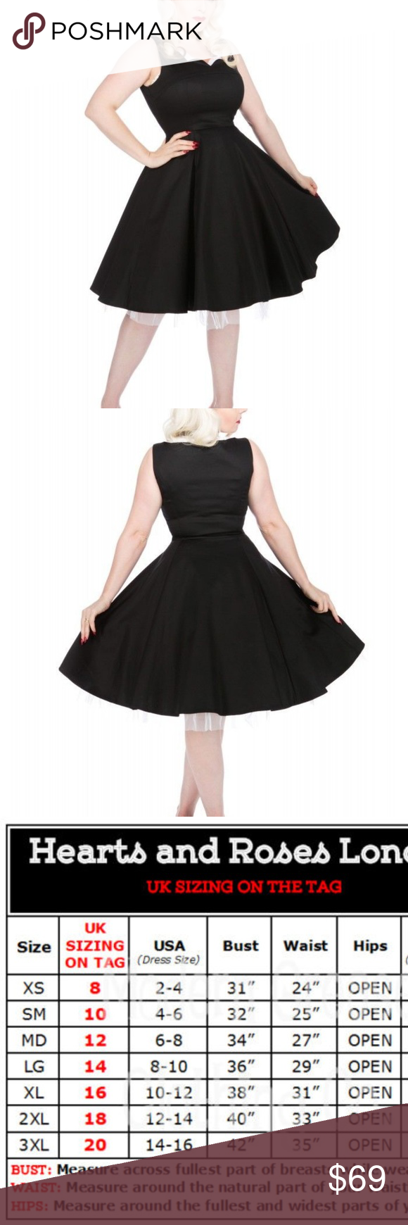 Black dress pinup us queen anne scalloped neck nwt queen anne