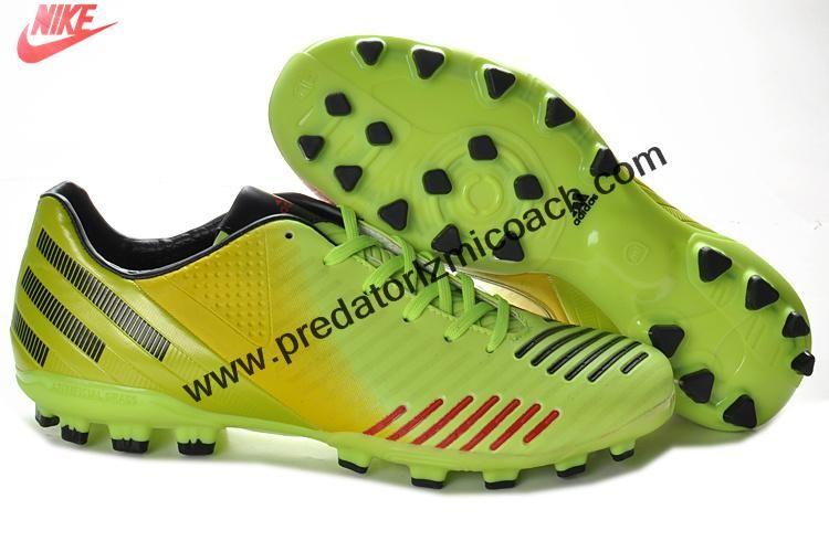 Wholesale Discount Adidas Predator Absolado LZ TRX AG - Green Yellow Black Red Shoes Store