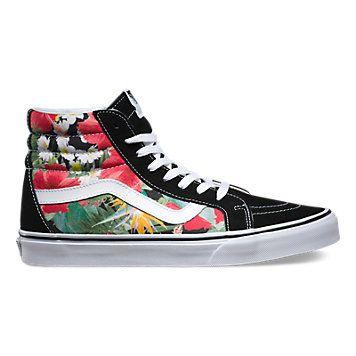 723964b3c8f 3CAID6 - Digi Aloha SK8-Hi Reissue Black Sneakers