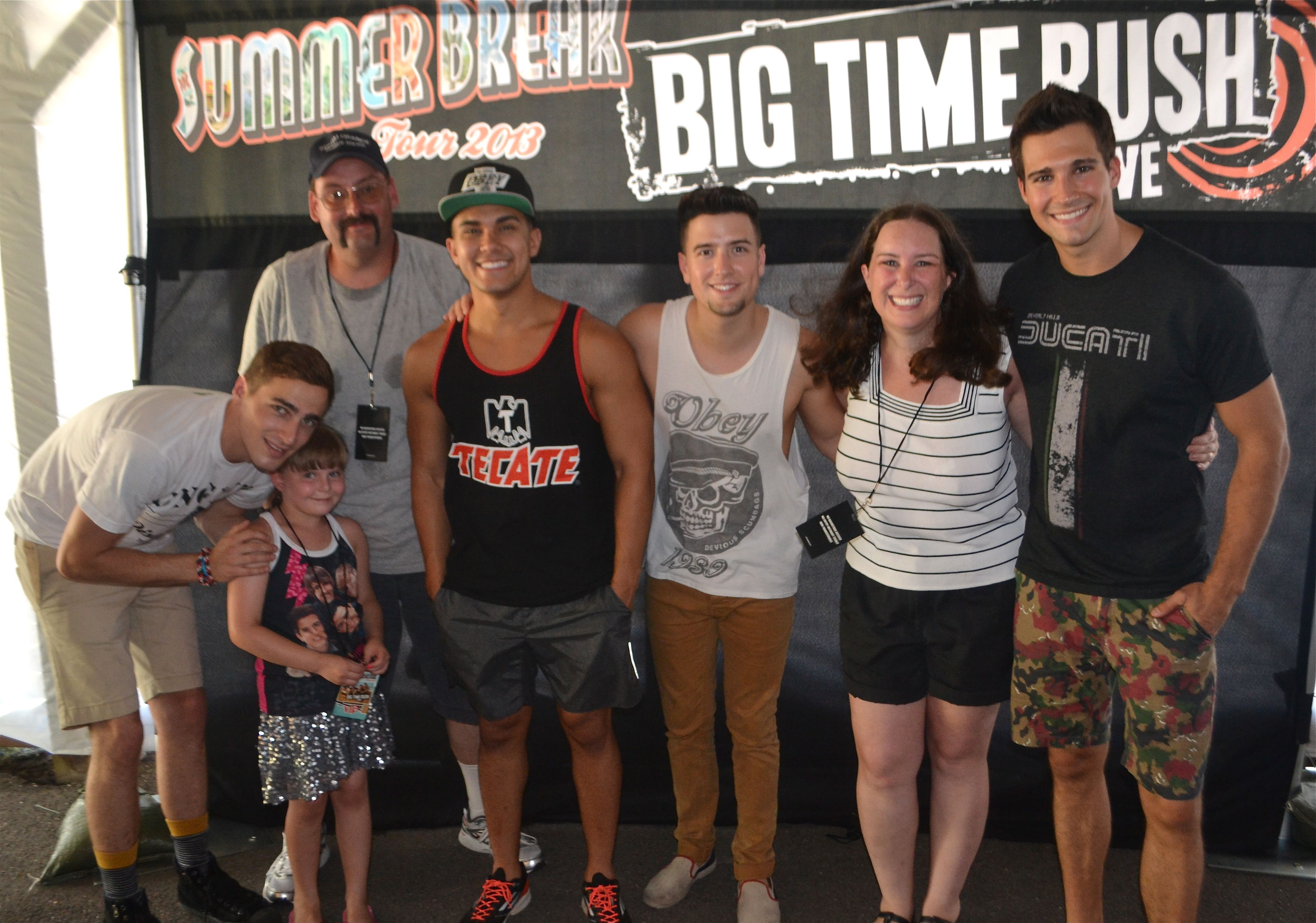 Our Vip Meet And Greet Big Time Rush Summer Break Tour Pittsburgh