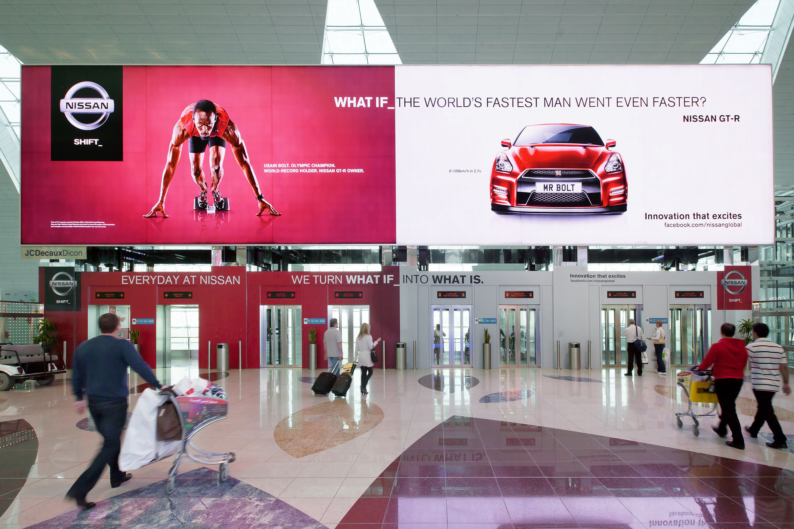 Jcdecaux Nissan Dubai Airports And Mindshare Enter The