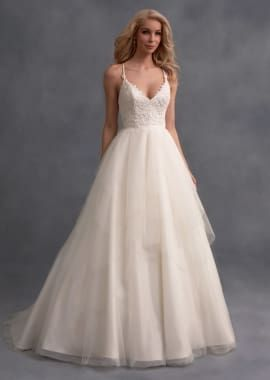 Wedding Dress With Tiered Handkerchief Skirt