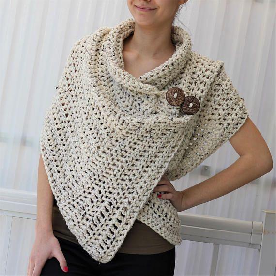 Crochet pattern Patron de crochet PDF Azali Crochet Wrap