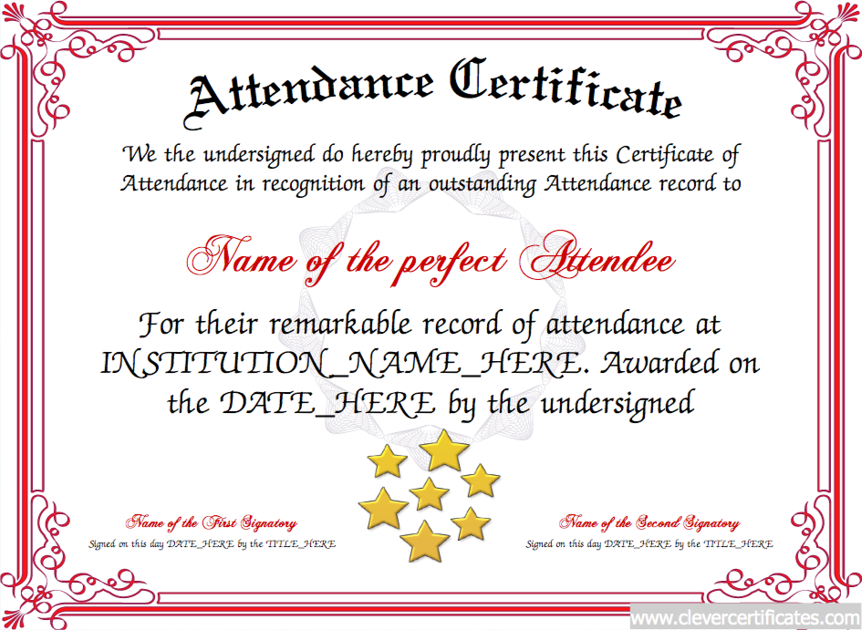 Attendence Certificate Designer  Projects To Try
