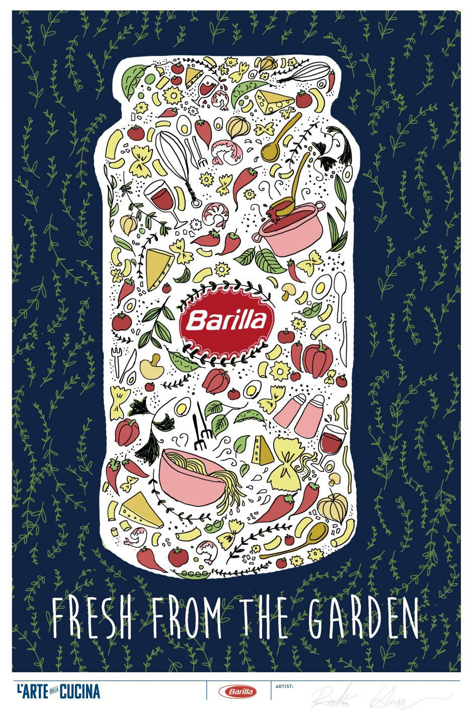 Creative Designs from the Barilla L\'arte della Cucina Poster ...