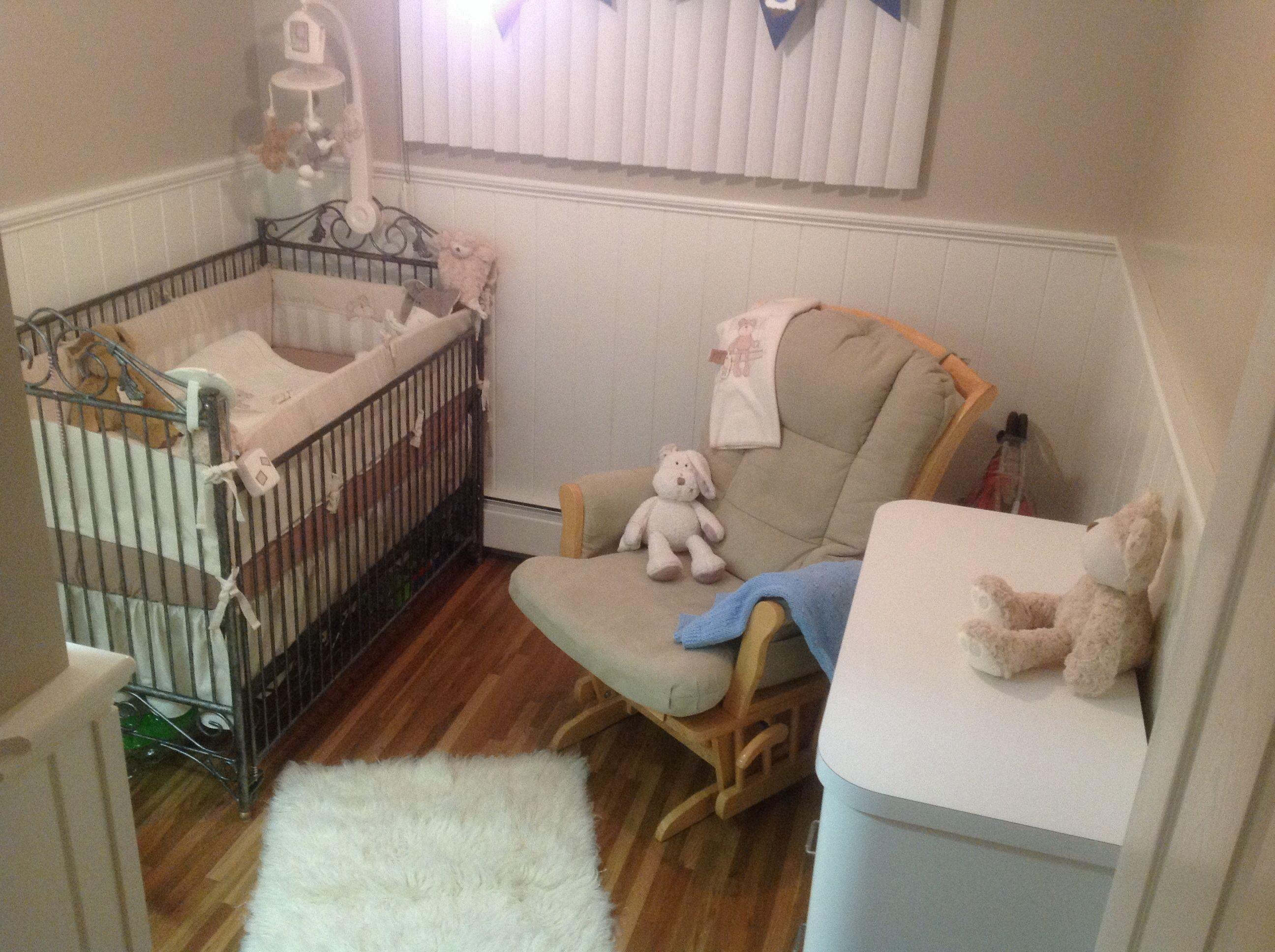 Bratt Decor Crib Wrought Iron Pewter Weathered Oak