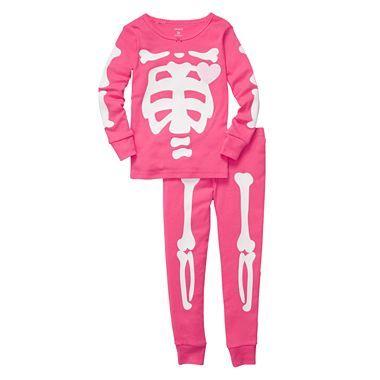 4e0fa01aa Carter s® 2-pc. Pink Glow-in-the-Dark Skeleton Pajamas - Girls 2t-5t ...