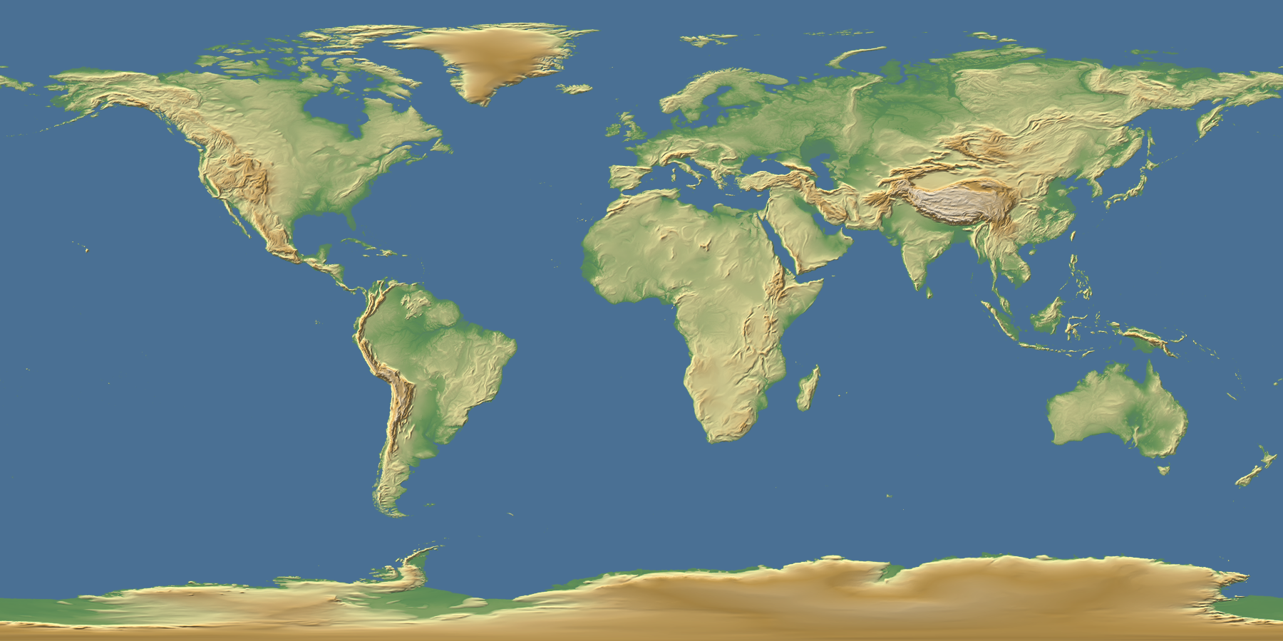 Maps Update Map Of Erth Natural Earth III Texture - Topographic map of the world