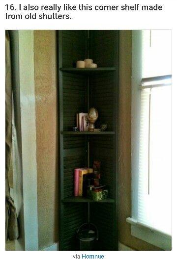 Shutters to make corner shelf