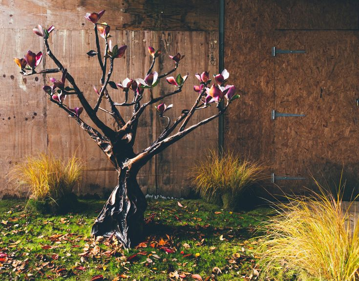 Handmade Copper Magnolia Tree Sculptures Tree sculpture