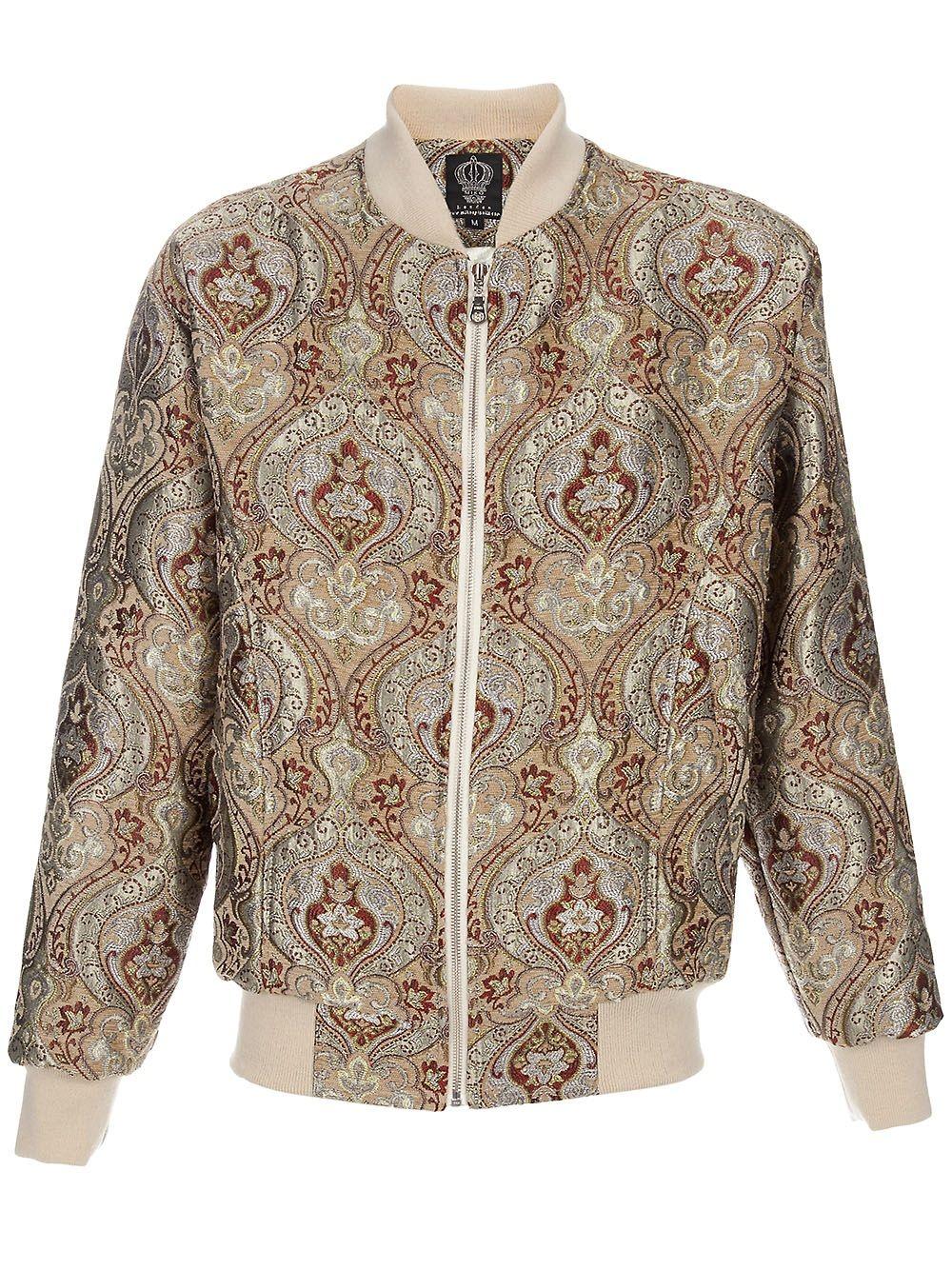paisley bomber jacket