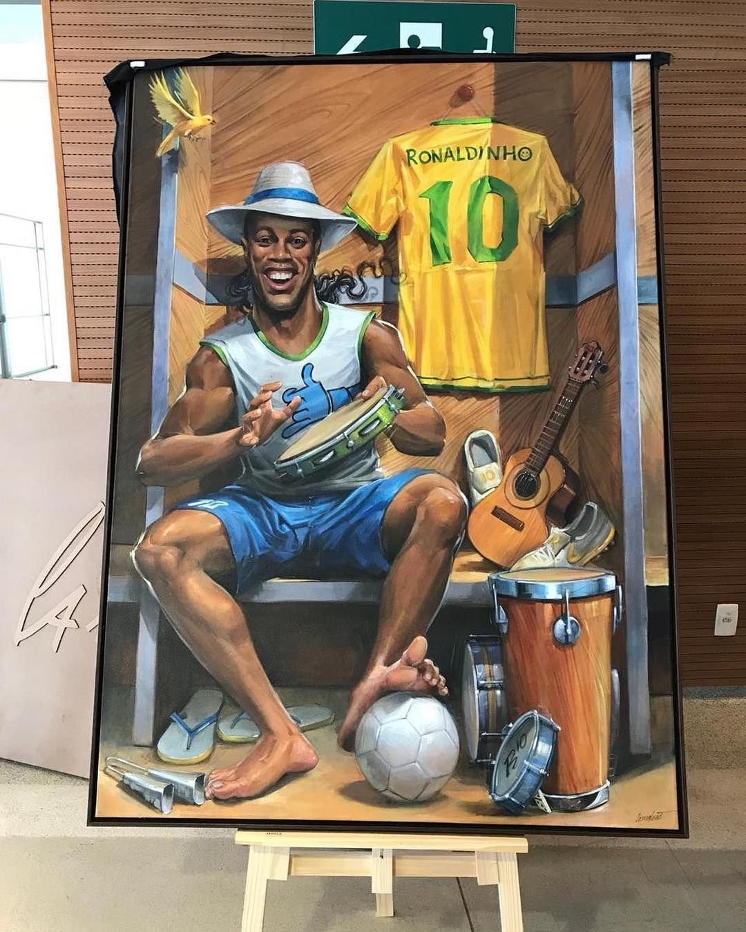 The Magician Ronaldinho Football Art Football Poster Ronaldo Football
