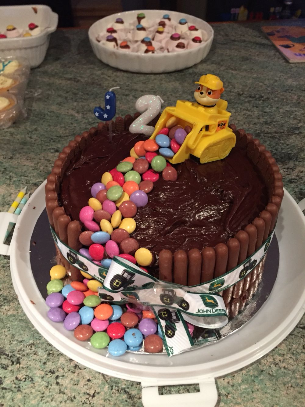 Rubble cake - Paw Patrol! Not bad for an amateur.. So easy to make ...