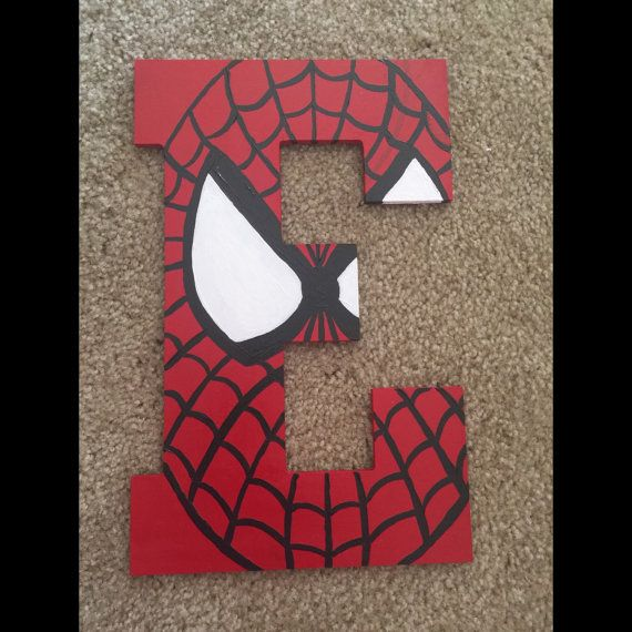 Spiderman Letter Art | Letter a crafts, Spiderman room ...