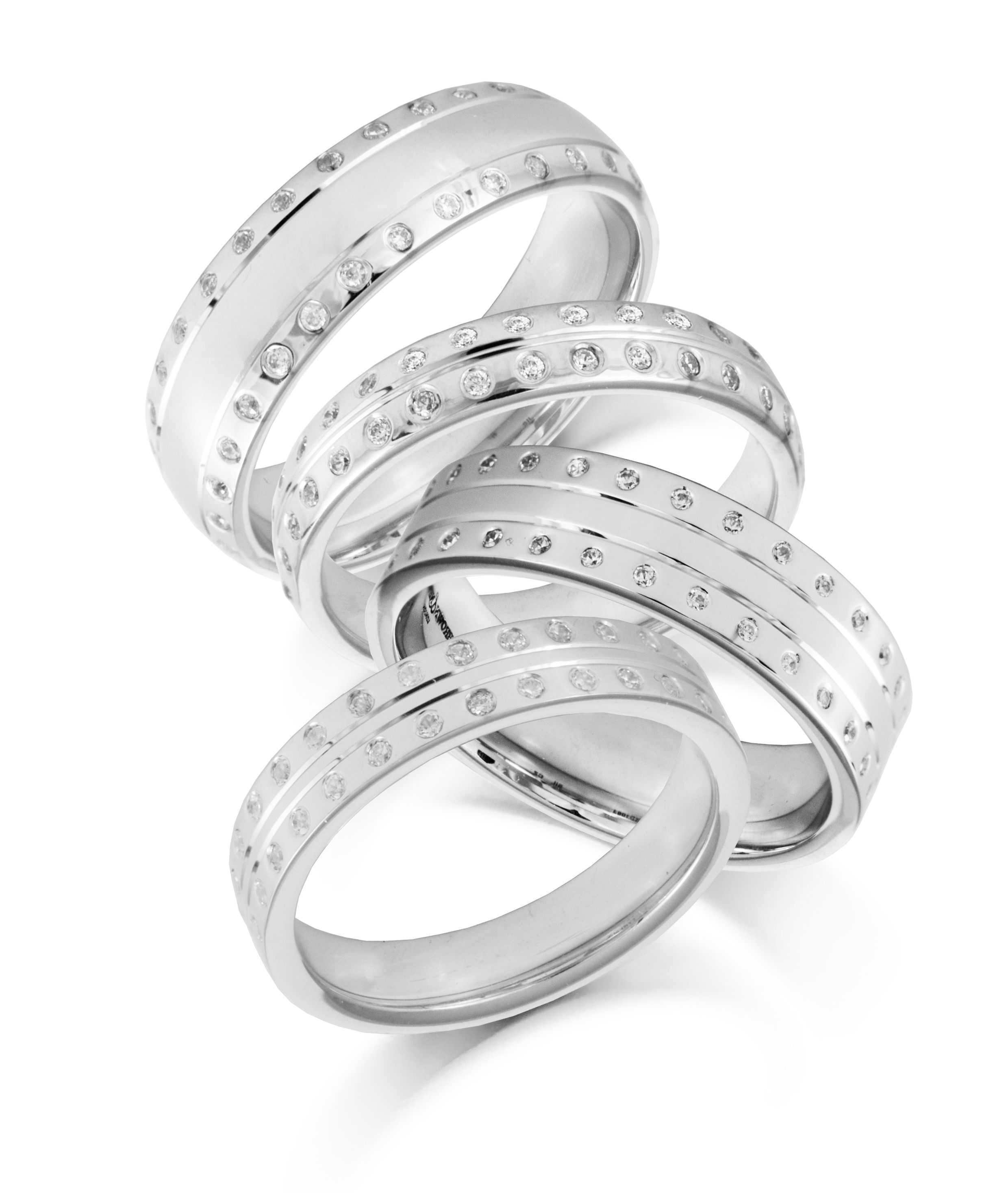 white his diamond wedding rings hers patterned p gold