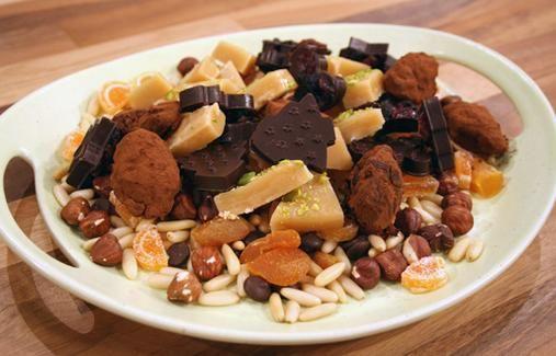 Suklaatryffelit ja kermatoffee