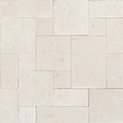 Random Kitchen Tile Patterns: Fossil Stone Random Sized Limestone Field Tile