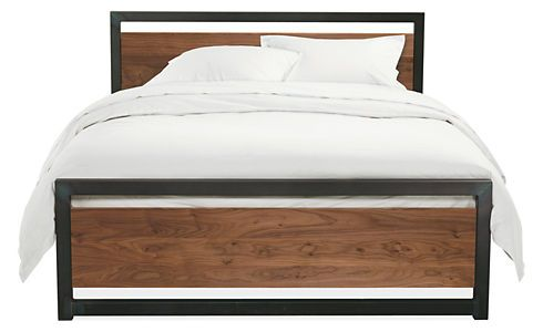 Piper Wood Panel Bed In Natural Steel Steel Bedrooms