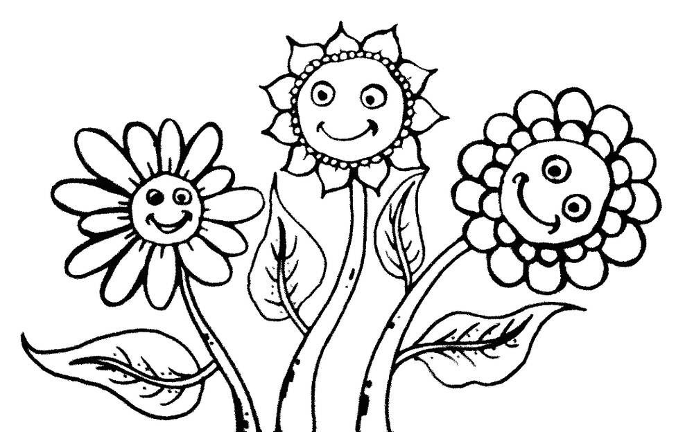 Bunga Matahari Untuk Diwarnai Kanan Bawah