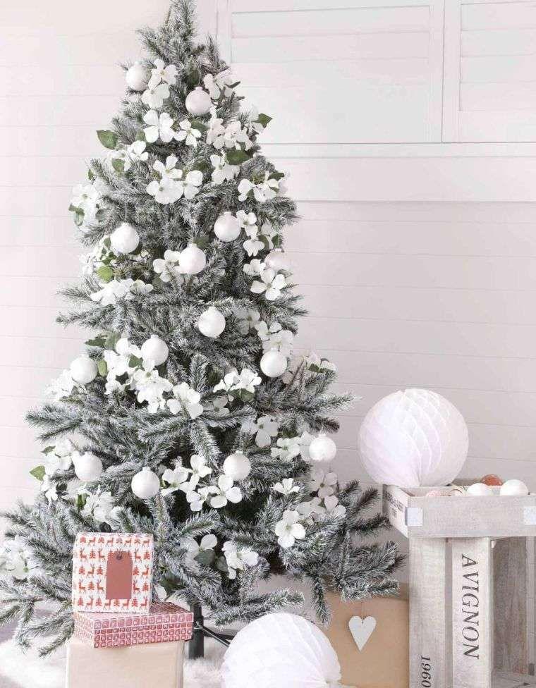 Déco sapin blanc - nos idées pour un arbre de Noël réussi Noel - white christmas tree decorations