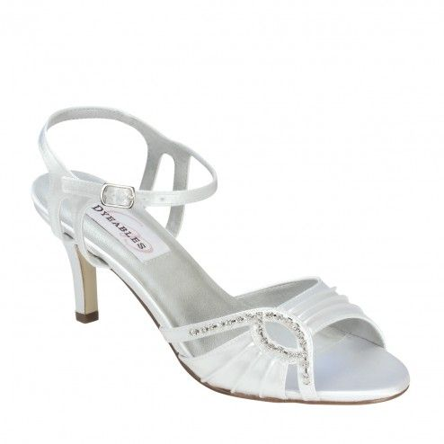 Dyeables Ariana White Satin Wide And Extra Widths To Size 12 Dye It Any Color