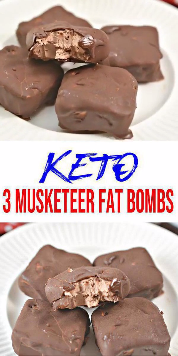 BEST Keto Fat Bombs! Low Carb Keto 3 Musketeer Candy Fat Bombs Idea – No Bake – Sugar Free – Quick & Easy Ketogenic Diet Recipe – Completely Keto Friendly