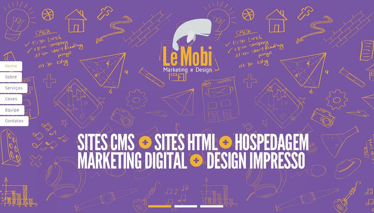 Criação de Interface com usabilidade da página virtual do Projeto Acadêmico Estúdio Le Mobi no ano de 2013.