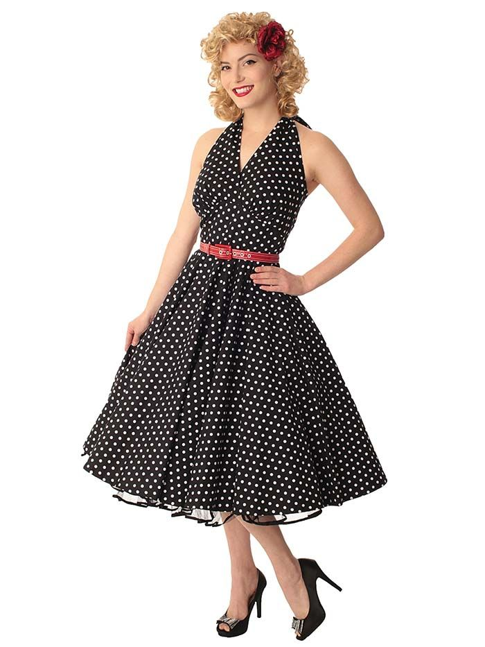 2cf3e45b0ec11 Vintage Polka Dot Dresses - 50s Spotty and Ditsy Prints | 1950s ...