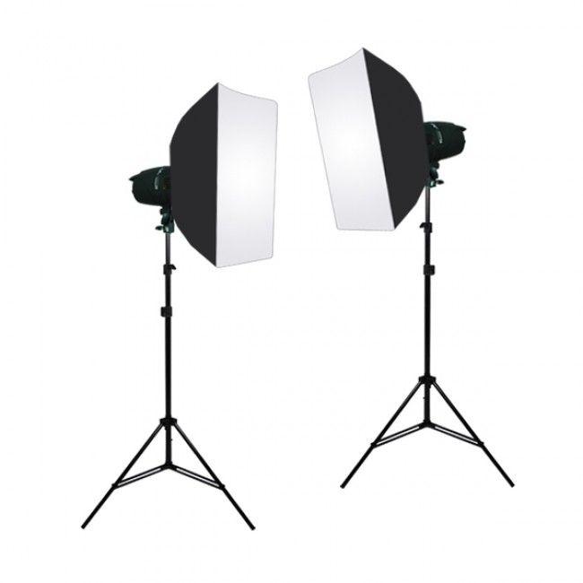 360W Photo Studio MonoLight Strobe Flash Lighting Softbox Kit