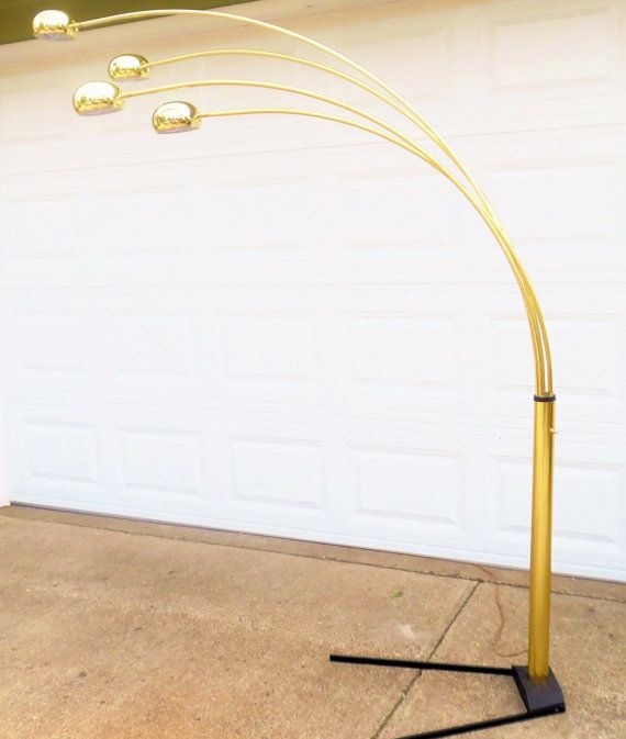 1970s Floor Lamp Spider Arc 4 Arm Sofa Sectional Lamp
