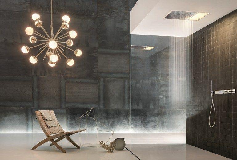 Risultati immagini per cabina doccia doppia soffione soffitto