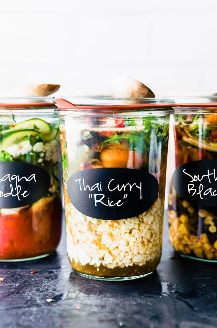 Make Ahead Instant Soup Jars with Protein