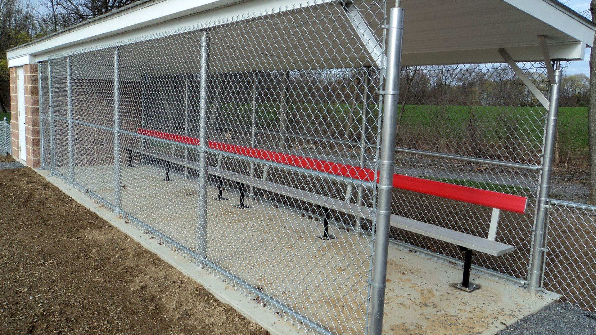 Moore Rec Center Baseball Field...Tri-Boro Fence installed the chain ...