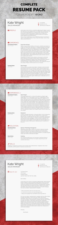 The Minimalist - Complete Resume Pack   Resume words, Resume ideas ...