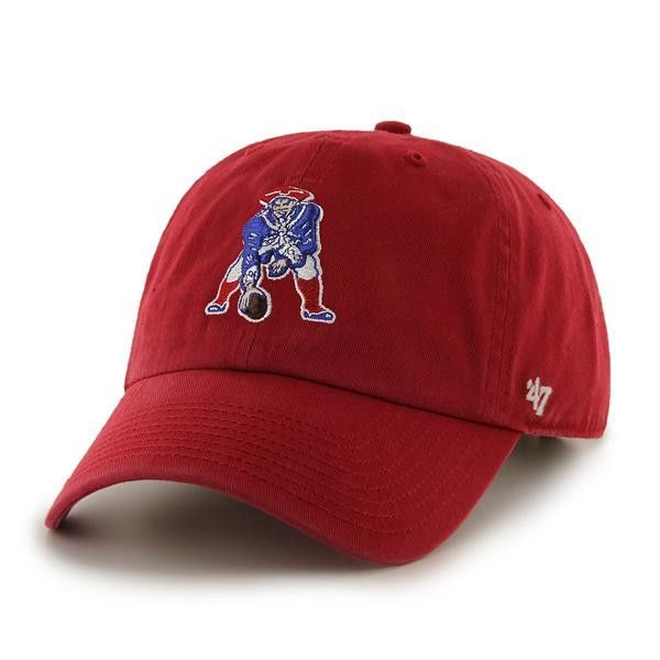 new arrival 2c590 5a1e5 ... shop sweden new england patriots 47 brand red 1965 legacy clean up  adjustable slouch hat cap