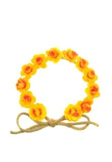 Johnny Loves Rosie Yellow Rose Garland Headband