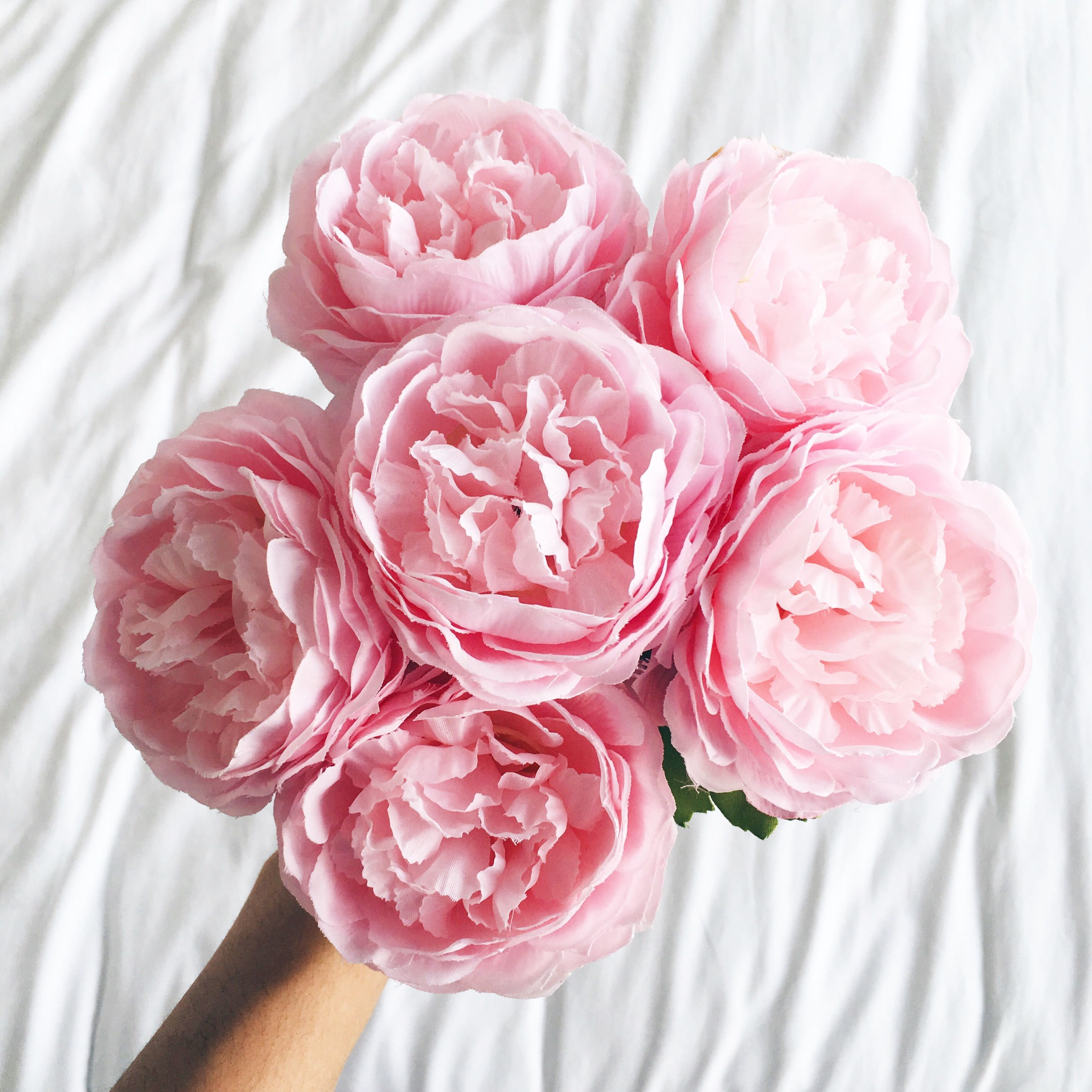 A Pretty Punch Of Pink Peony Flowers Luxury Faux Flowers From