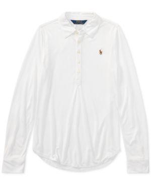ddbdcb53 Ralph Lauren Long-Sleeve Polo, Toddler Girls (2T-5T) - White 3/3T ...