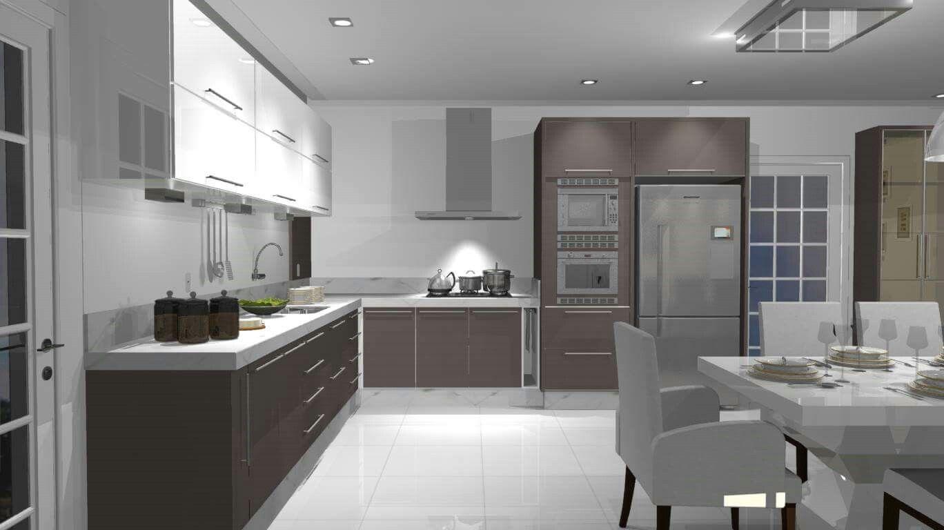 Ambientes 3d Cozinha Moderna Cozinha 2017 Projetos Em 3d