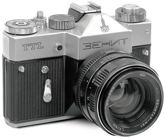 Krasnogorsk Zenit Ttl Olympic 1977 1985 35mm Film Slr Camera 1980 Olympic Games Logo Vintazhnye Fotoapparaty Starye Kamery Kamera