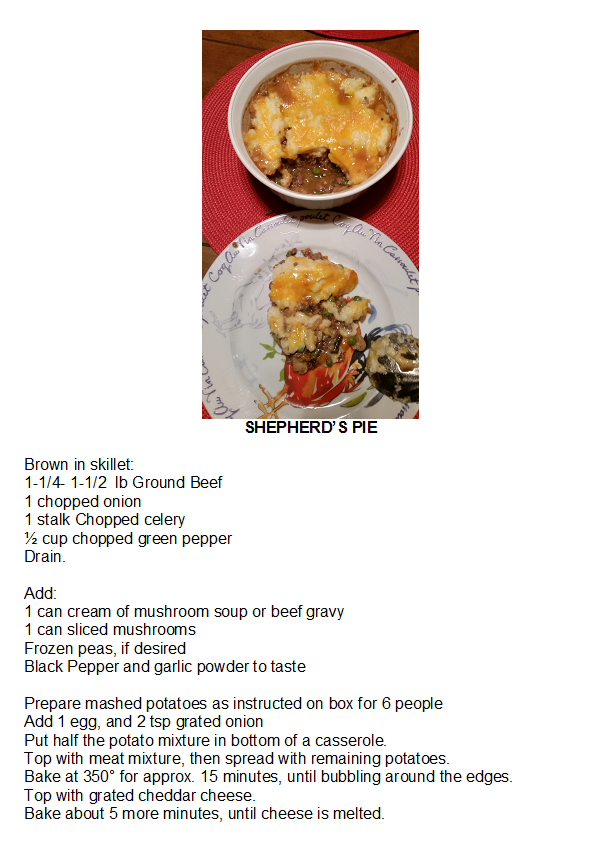 Shepherd S Pie I Make It Different Every Time Vary The Vegetables And Gravy Types Cream Of Mushroom Soup Beef Gravy Mushroom Gravy Etc Beef Gravy