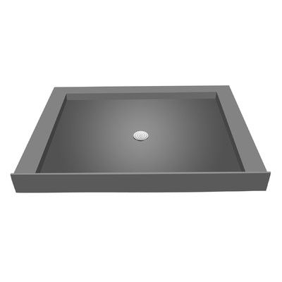Tile Redi 42 X 36 Triple Threshold Shower Base With Drain Plate