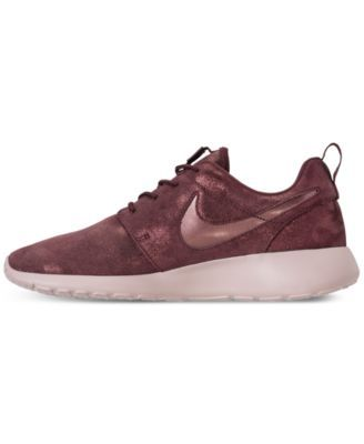 c83dbb1a5bed Nike Women s Roshe One Premium Casual Sneakers from Finish Line - Brown 6.5