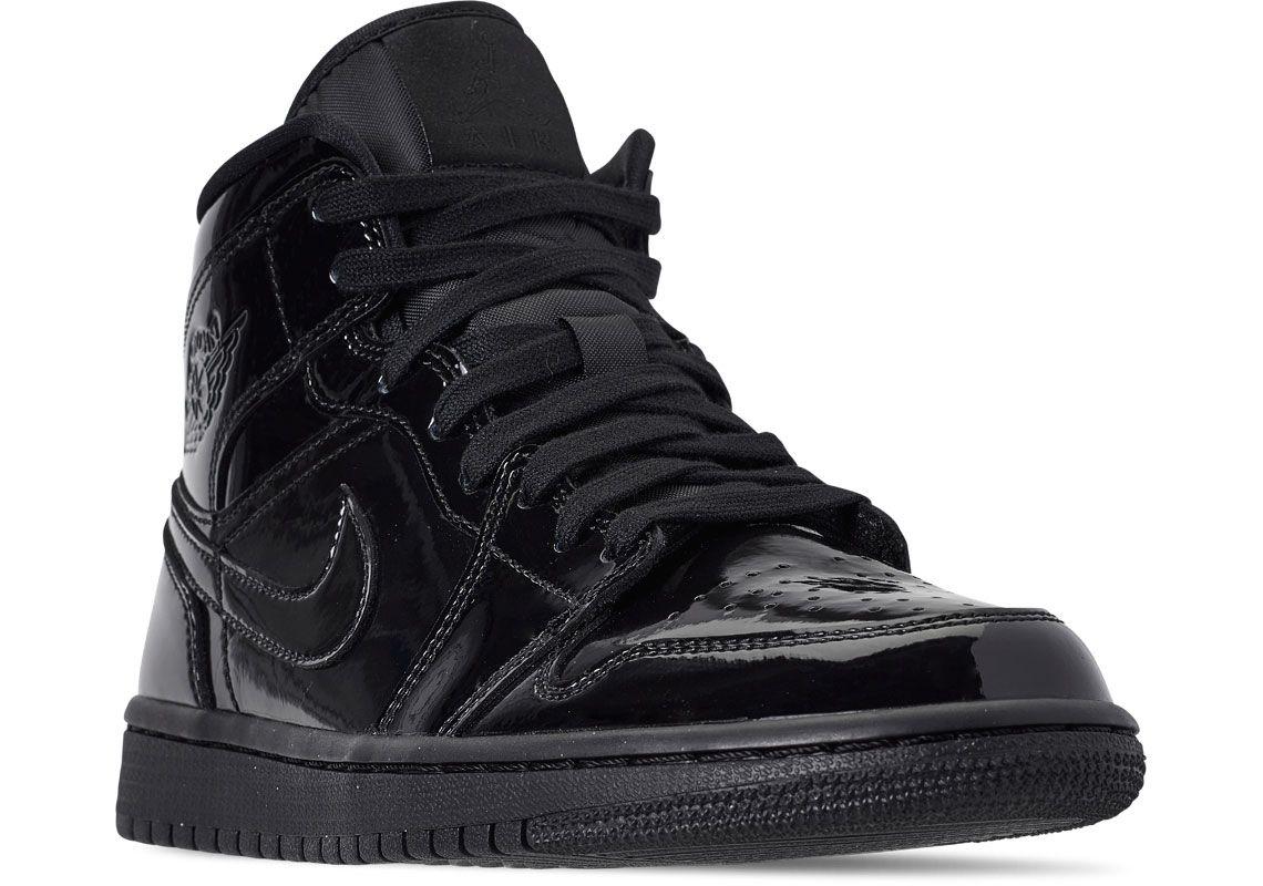 4eef30845ad9fe Air Jordan 1 Releases In Triple Black Patent Leather